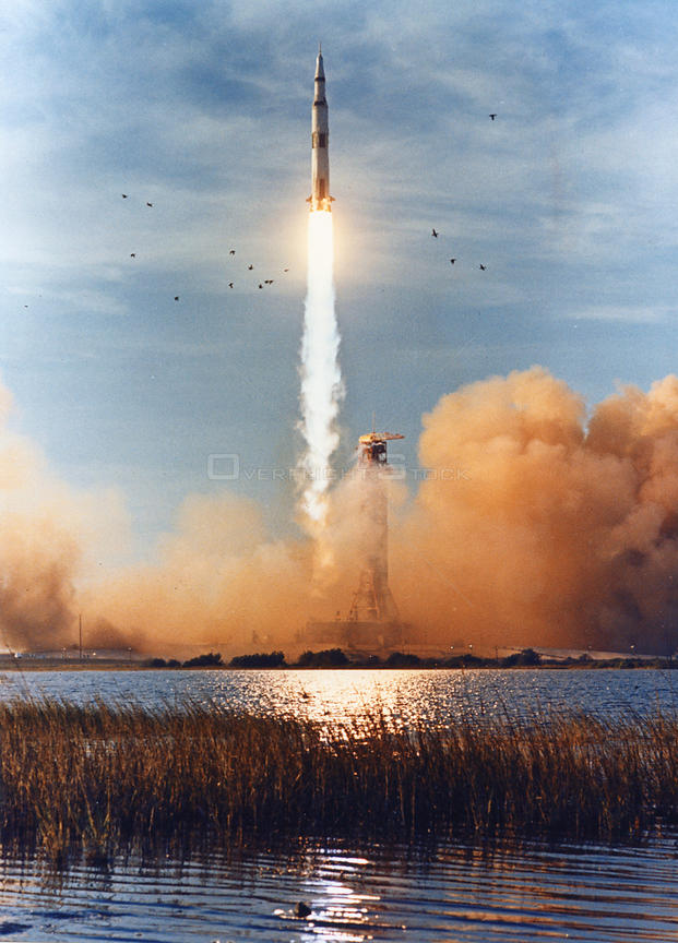 The Apollo 8 (Spacecraft 103/Saturn 503) space vehicle is launched from Pad A, Launch Complex 39, Kennedy Space Center