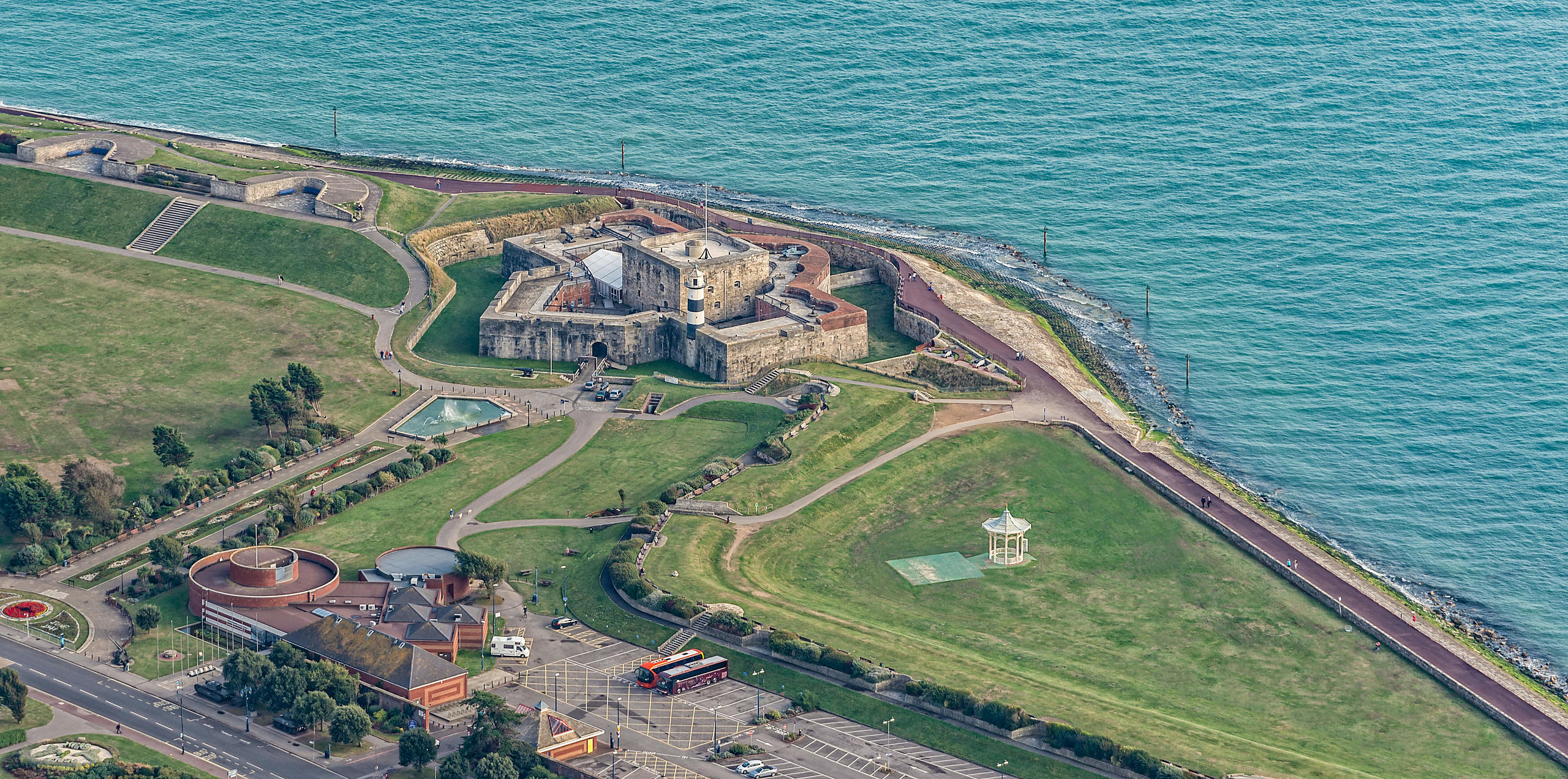 Aerial View of Henry VIII's Southsea Castle; Portsmouth