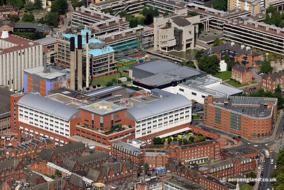aerial photograph of Leeds General Infirmary (LGI)