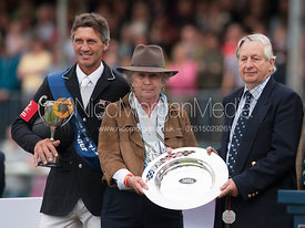 Andrew Nicholson and Rosemary Barlow - prizegiving ceremony - Land Rover Burghley Horse Trials 2012.