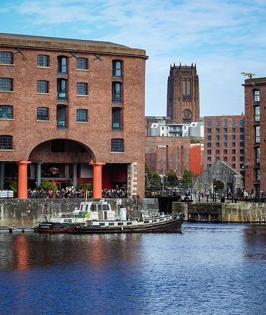 The Royal Albert Dock and Liverpool Cathedral
