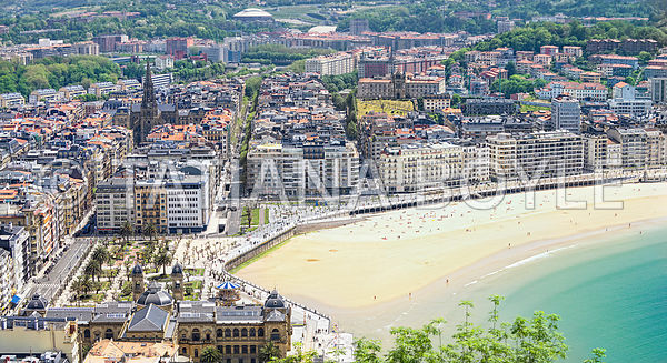 View on San Sebastian - Donostia