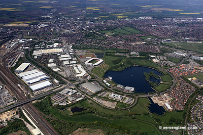 aerial photograph of Doncaster Yorkshire England UK