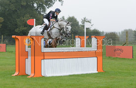 Gina Ruck and REHY TOO - cross country phase,  Land Rover Burghley Horse Trials, 6th September 2014.