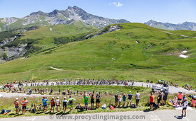 The Peloton in Alps - Tour de France 2018