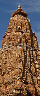 Inde, Madhya Pradesh, Khajuraho, site classé au Patrimoine Mondial de ll'UNESCO, temple de Kandariya Mahadev, édifié entre 1025 et 1050 // India, Madhya Pradesh, Khajuraho, a world heritage site of UNESCO,  temple of Kandariya Mahadev,  built between 1025 and 1050