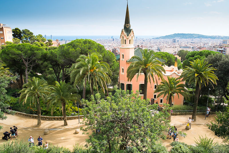 Gaudi House, Park Guell, Barcelona, Spain