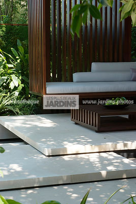 Contemporary furniture, Contemporary garden, Exotic garden, Garden furniture, Pavement, Resting area, Terrace, Tropical garden, Contemporary Terrace,
