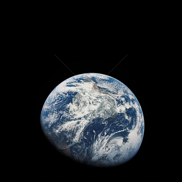 21-27 Dec. 1968) --- A striking view from the Apollo 8 spacecraft showing nearly the entire Western Hemisphere, from the mouth of the St. Lawrence River