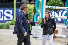 Bordeaux, France, 3.2.2018, Sport, Reitsport, Jumping International de Bordeaux - LONGINES FEI WORLD CUP™ JUMPING. Bild zeigt Uliano VEZZANI, Edwina Tops Alexander...3/02/18, Bordeaux, France, Sport, Equestrian sport Jumping International de Bordeaux - LONGINES FEI WORLD CUP™ JUMPING. Image shows Uliano VEZZANI, Edwina Tops Alexander.