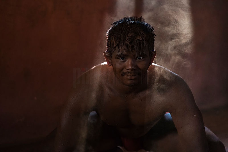 Portrait of a Kushti Wresteler in Sun's Rays