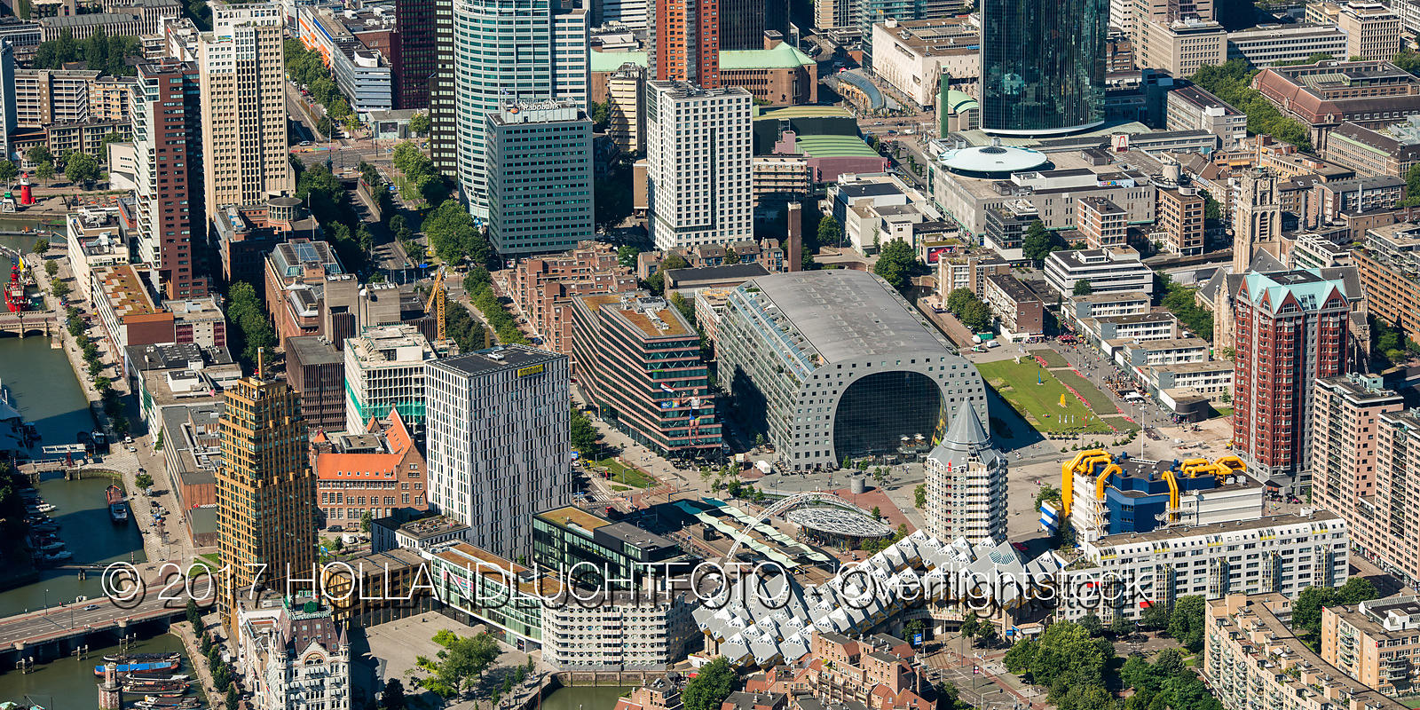 Cityscape of Downtown Rotterdam Netherlands