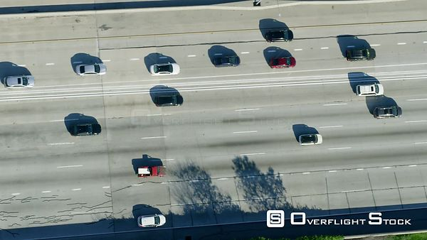 Red Epic Video Busy Harbor Freeway, I110  Los Angeles California USA
