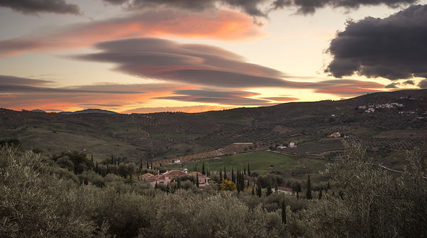 Lenticular clouds in the valley