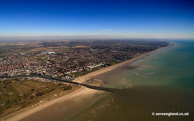 aerial photograph of Littlehampton West Sussex  England UK