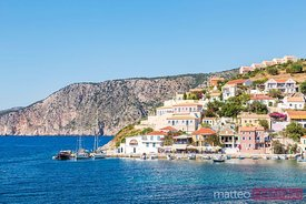 Assos village and harbour, Kefalonia, Greek Islands, Greece