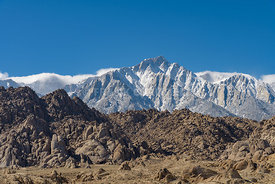 Alabama Hills Eastern Sierra Nevada Mountains near Lone Pine California USA.