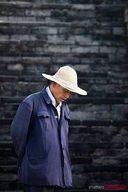 Chinese man on the Great Wall, Jinshanling