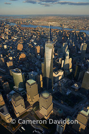 Aerial Photograph of the Freedom Tower in New York city