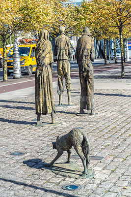 Famine Memorial (3)- Custom House Quay, Dublin, Ireland