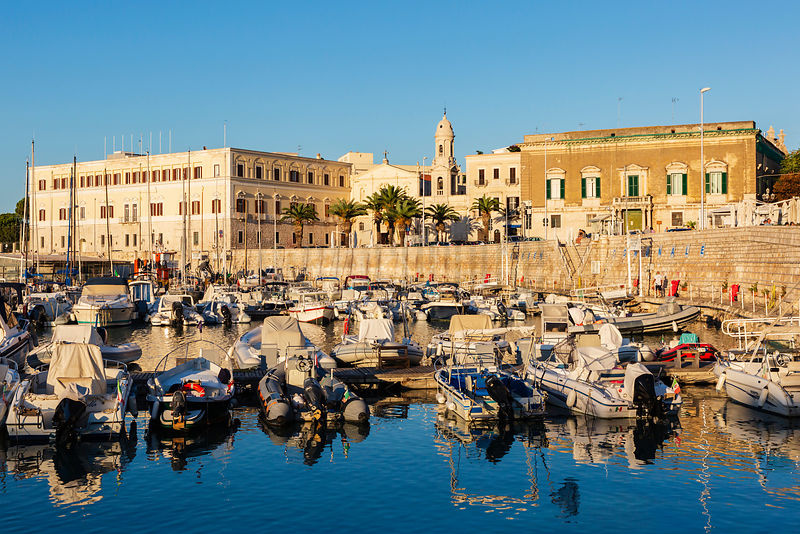The Yacht Marina at Trani at Sunset