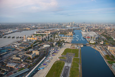 Aerial View Of East London King George V Dock Canning Town With Silvertown