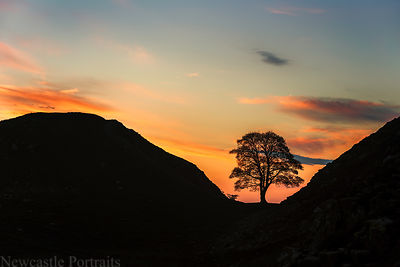 Sycamore Gap Sunset
