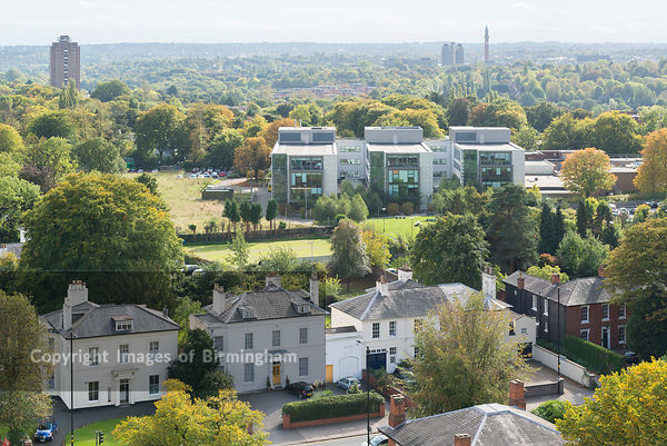 View over Edgbaston, Birmingham, England