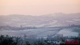 Winter landscape in  Monferrato, Piedmont, Italy