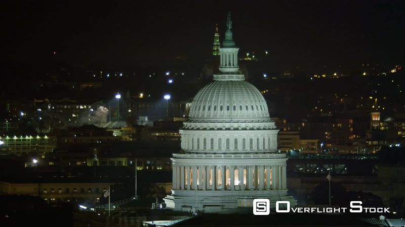 Orbiting the Capitol at Night, Traffic on Pennsylvania Avenue.