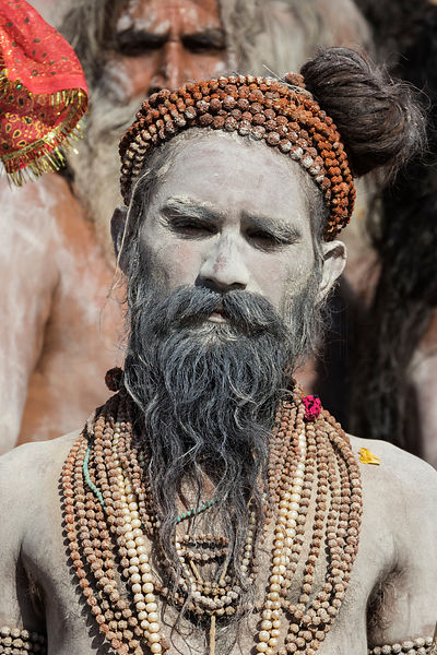 A Naga Sadhu before a Holy Dip in the Shipra River