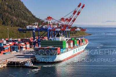 Container Ship at Fairview Terminal in Prince Rupert