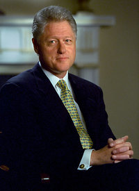 Presidente William Clinton, Casa Blanca.