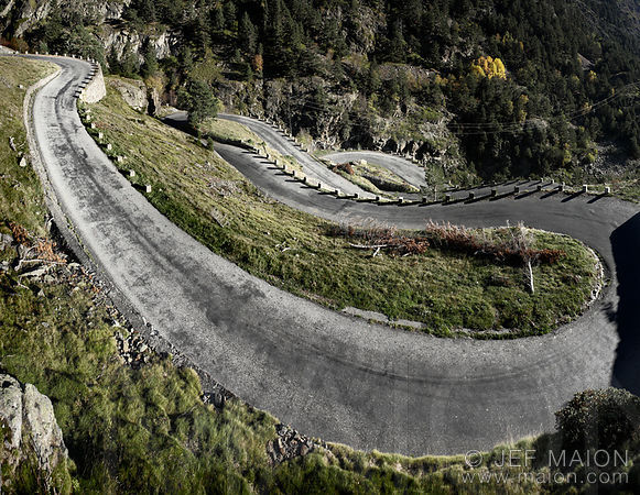 Mountain roads in South France images