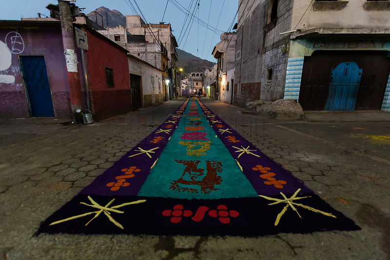 "An ""Alfombra"" or Carpet for a Semana Santa Parade"