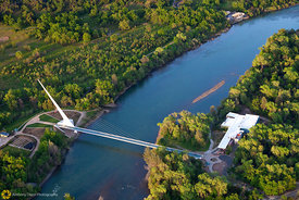 Sundial Bridge From the Air #11