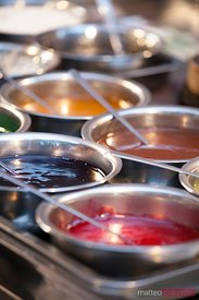 Street food in China: sauces