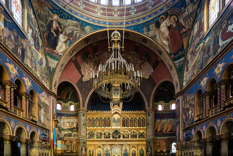 Interior of the Orthodox Holy Trinity Cathedral