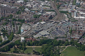 Preston aerial photograph of Preston railway station and surrounding area