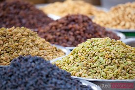 Raisins for sale at local street market, Dunhuang, China