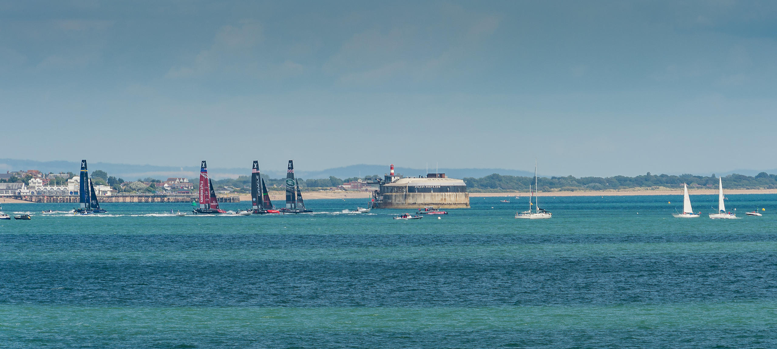 Racing on Day 3 of Americ's Cup Portsmouth 2015