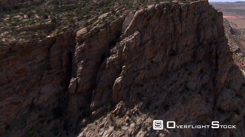 Rushing flight over Echo Cliffs in Arizona