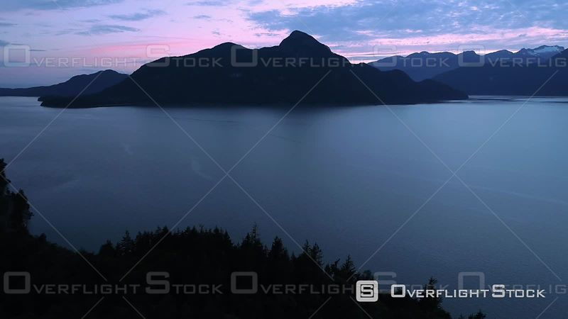 Drone Video Views of Sea to Sky Area and Howe Sound BC Canada