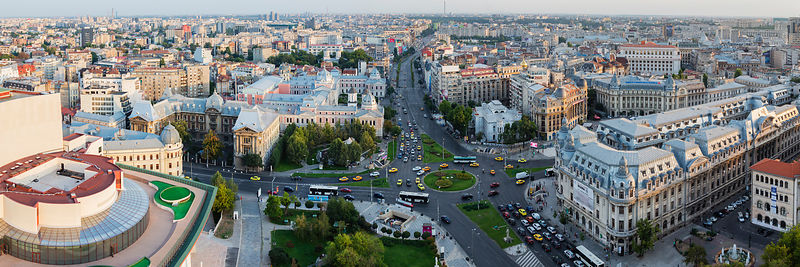Elevated View of Old Town Bucharest