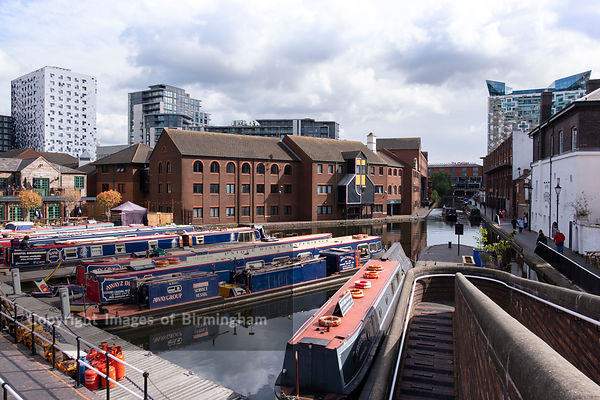 Barges on Gas Street Basin, Birmingham, England