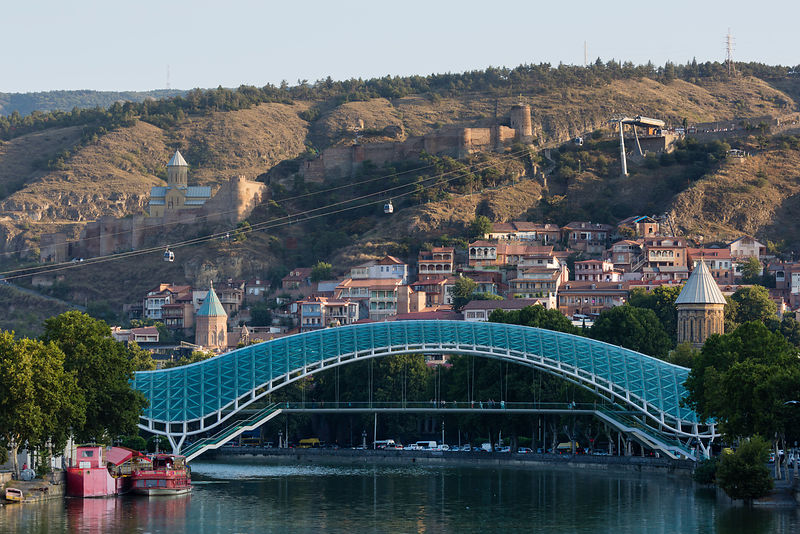 Bridge of Peace over Mtkvari (Kura) River