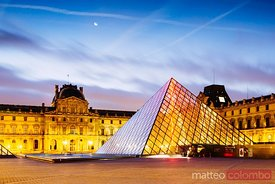 The Louvre  at dawn, Paris, France