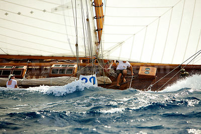 Classic sailing boat in Mediterranean sea