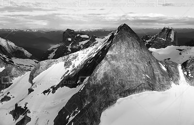 Black and White of Mount Asgard Valhalla Provincial Park Kootneys BC