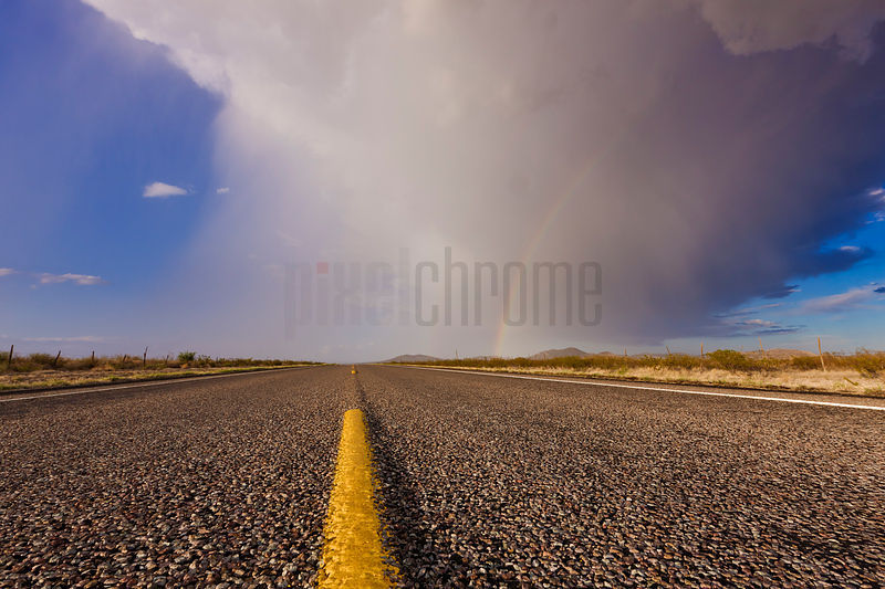 West Texas Highway and Storm.
